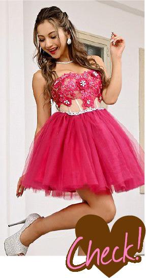 ピンク色のドレス